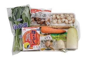 ほたてとかきの炊き込みごはん ~秋野菜のあんかけ仕立て~