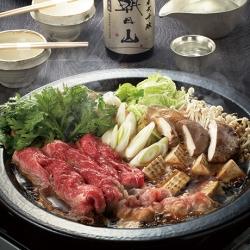 匠のすき焼き~牛肉&豚肉合い盛り仕立て~