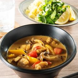 鶏肉のタイ風カレーつけ麺