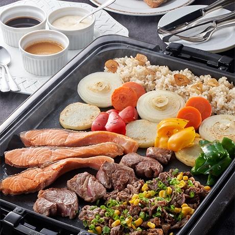 ホットプレートステーキ~3種のソース~