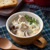豆苗のしゅうまい卵スープ