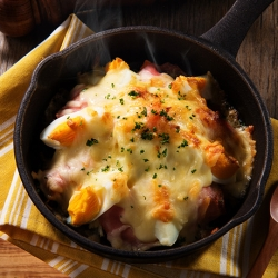 たまごたっぷりポテトサラダチーズ焼き