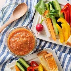 トマト味噌のスティックサラダ