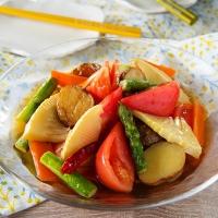 トマトと春野菜の揚げ浸し