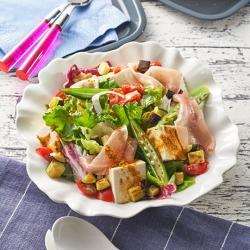 夏野菜のカレーサラダ