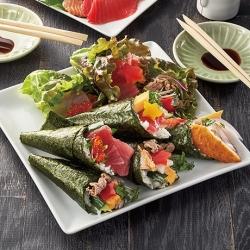 七夕の野菜たっぷり手巻き寿司
