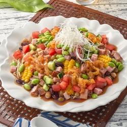 コロコロ野菜の彩り冷し中華