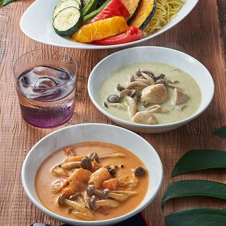 夏野菜の2種カレーつけ麺