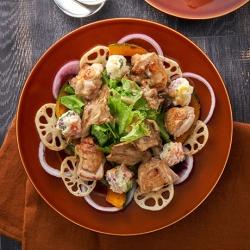 焼きれんこんとかぼちゃのECHIGO salad