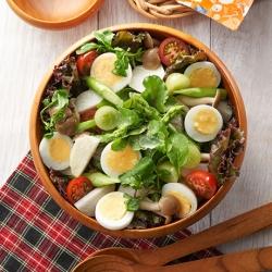 たまごたっぷり秋野菜のECHIGO salad