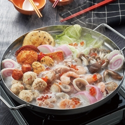 具だくさんちゃんぽん風海鮮鍋