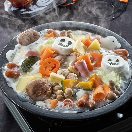ハロウィンかぼじゃがバター鍋