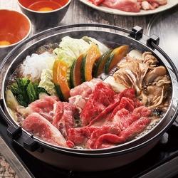3種のお肉の具だくさんすき焼き