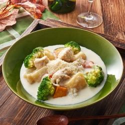 ごろごろ野菜とチキンのリゾットクリームシチュー