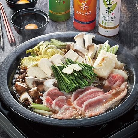 豚肉のスタミナ鍋すき焼き風