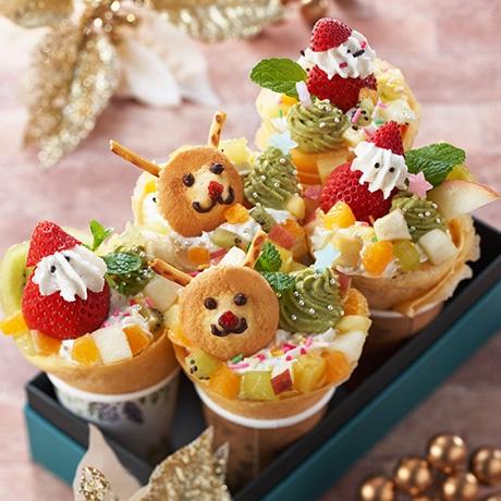 クリスマスフルーツクレープ