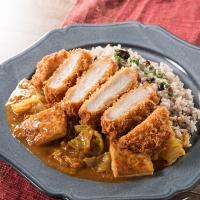 豆腐とキャベツのかつカレー