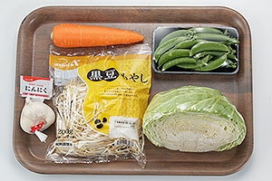 牛バラ焼きと春野菜炒め丼