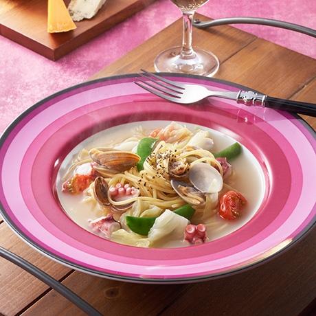 春野菜とたこのスープパスタ