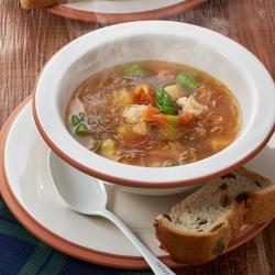 ささみと春野菜の和風春雨スープ