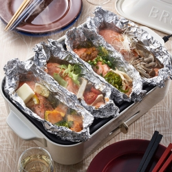 ホットプレートで簡単調理 銀鮭のホイル焼き食べ比べ