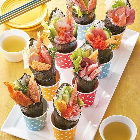 大好きメニューで手巻き寿司