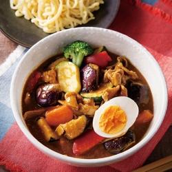 ごろごろ野菜のSpicyスープカレーつけ麺