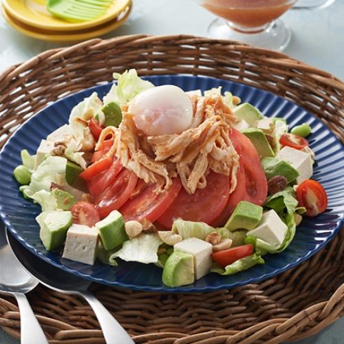 トマトとチキンの旨辛ECHIGO salad
