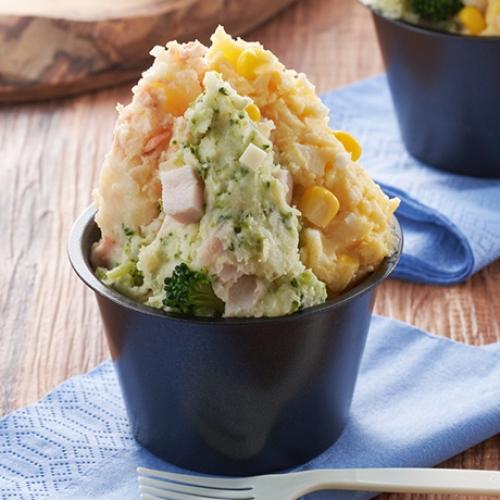 合わせマヨの3色ポテトサラダ
