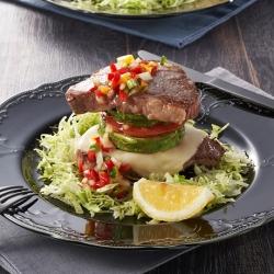 厚切りステーキのミルフィーユ風