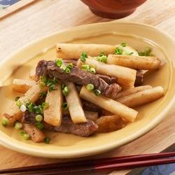 「山のうなぎ」長芋のぽん酢炒めと土用しじみの味噌汁