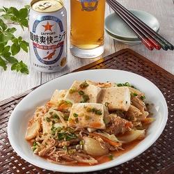 豚肉と豆腐のキムチレンジ蒸し