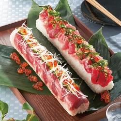 まぐろのっけ棒寿司風