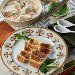 豆腐と鶏挽き肉の手作りいろいろ餃子