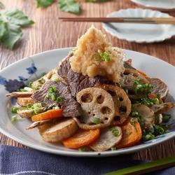 たれかけ焼肉とシャキシャキ根菜