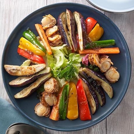 ほたてと緑黄色野菜のグリル ECHIGO salad